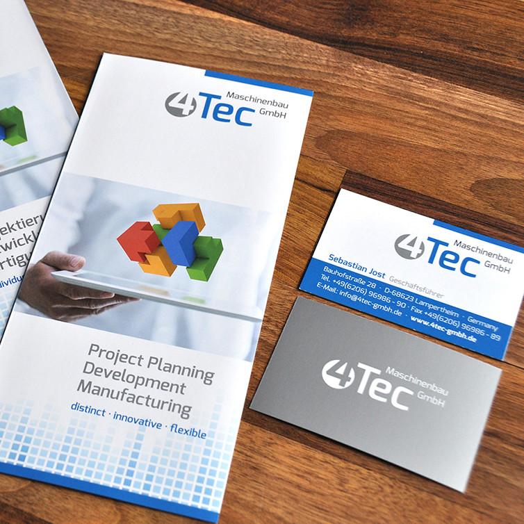 4Tec Maschinenbau Geschäftsausstattung